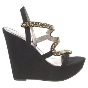 715b68ffe8d Carlos by Carlos Santana Shoes - Carlos Santana Olympia Black Wedge Sandals